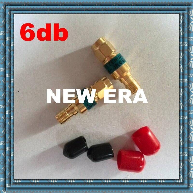 2W SMA male to SMA  female Coaxial RF Attenuator ,DC to 6.0GHz ,50ohm,6dB,free shopping r404n01121 rf terminators term sma m 18 ghz 2w w cord mr li