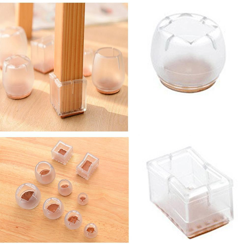 4x New Square Chair Leg Caps Rubber Feet Protector Pads Furniture Table Coversf1fb Furniture Frames Furniture