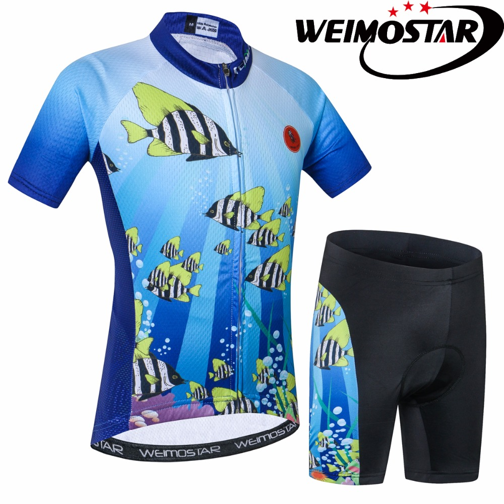 WEIMOSTAR Bike Jersey Sportswear Clothing Cycling Ropa-Ciclismo Children Mtb Summer Outdoor