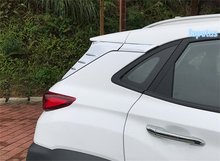 Lapetus Trunk Spoiler Side Rear Decoration Panel Cover Trim 4 Pcs Fit For Hyundai Kona 2018 2019 ABS Chrome Bright Style