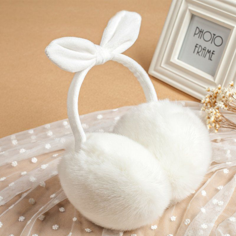 Winter Ear Covers For Women Warm Fur Earmuffs Girl's Ear-lap Rabbit Hair Ear-flap Ladies' Cute Ear-tab Plush Ear Muffs Factory