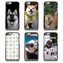 Doge Internet Funny Face Cover Case For Samsung S4 S5 S6 S7 S8 Eege Plus Note 2 3 4 5 8 for Huawei P8 P9 P10 Lite 2017