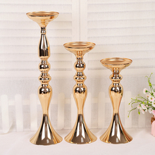 Wedding ceremony Metal gold vase Mermaid flower T road guide vasesvases for centerpieces wedding decoration accessories