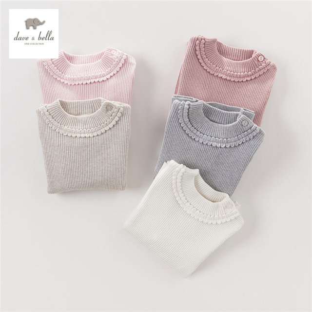 7cabc62f8 DB4151 dave bella autumn baby girls solid sweater pink beige gray textile  girls cotton cashmere wool sweater-in Sweaters from Mother   Kids