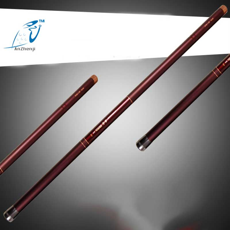 Фотография 2018 Top Telescopic Carbon Fiber Long Fishing Rod 8m 9M 10 M 11M 12M 13M Ultra Hard Hand Stream Taiwan Fishing Rod Pole Peche