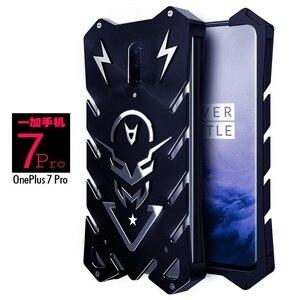 Image 2 - Oneplus 7 pro case Metal fundas Rigid neat case for Oneplus 7 pro Powerful Shockproof case for oneplus 7 Zimon iron body coque