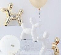 Nordic Balloon Dog Piggy Bank Ceramic Crafts Home Decoration Personality Bedroom Living Room Desktop Ornament Piggy Bank Q318