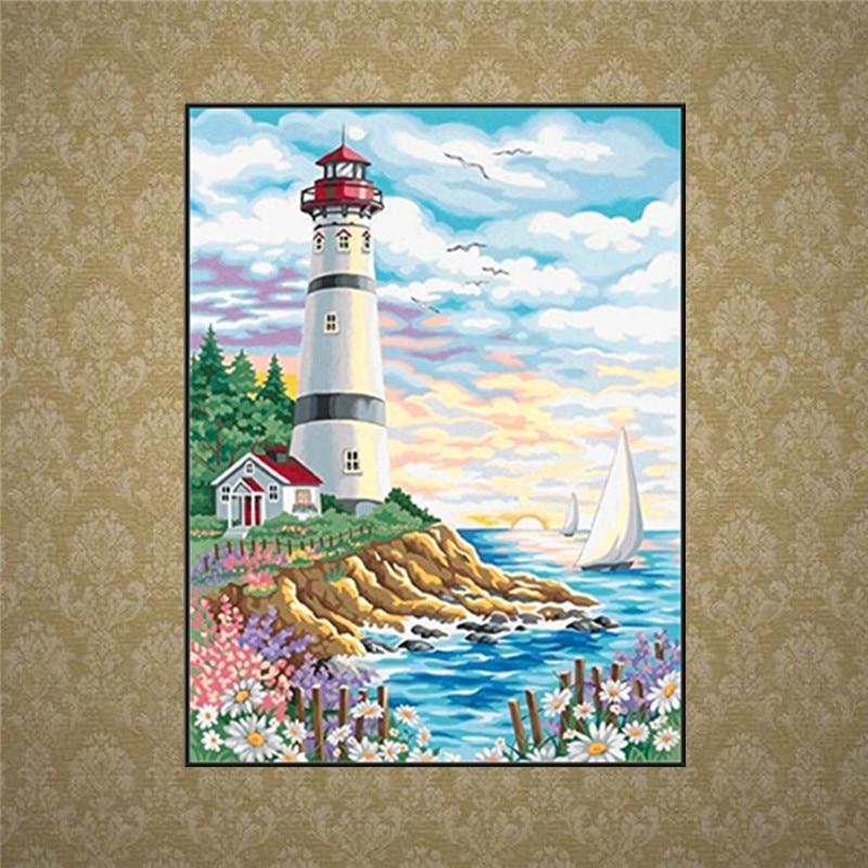 FineTime 5D DIY Diamond Painting Full Diamond Embroidery Landscape Sale Diamond Mosaic Cross Stitch Sunflower Set Home Decor in Diamond Painting Cross Stitch from Home Garden