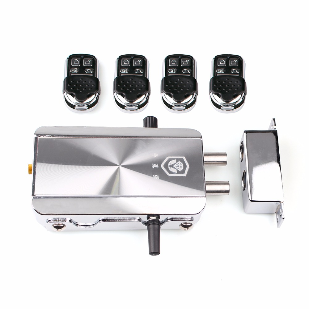 Remote Control Door Lock Wireless Lock Anti-theft Lock Automatically Intelligence Household for Home Apartment F1785D