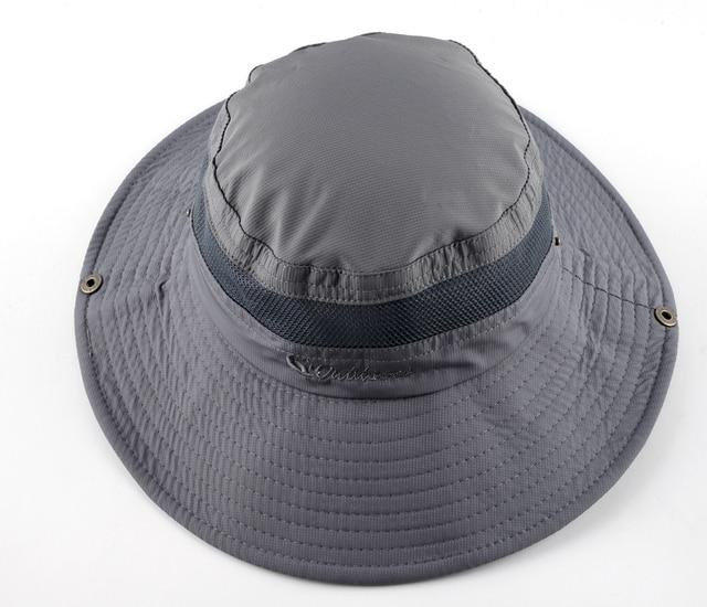 Men's Bob Summer Bucket Hats Outdoor Fishing Wide Brim Hat UV Protection Cap Men Hiking Sombrero Outdoor Gorro Hats For Men 2