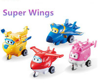 2015 Best Sale 4PCS Lot Super Wings PVC Slide Plane Action Figures Toys For Kids Christmas