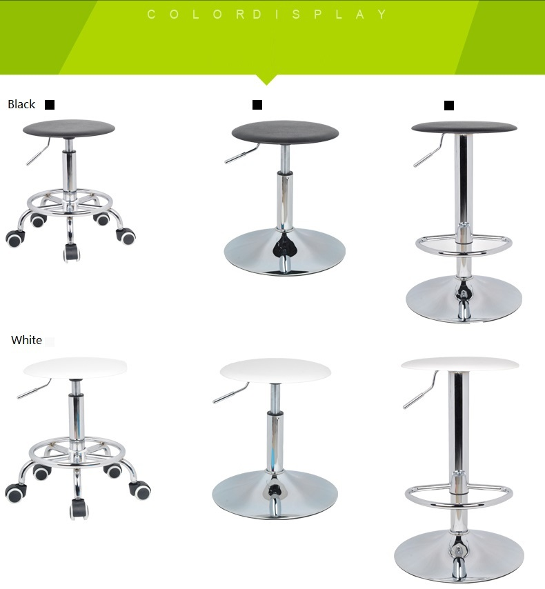 South American fashion bar stool Restaurants Coffee chairs retail black white blue lift stool free shipping