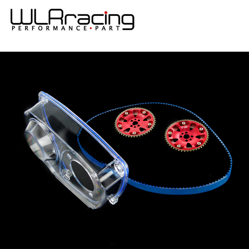 WLRING STORE- HNBR Racing Timing Belt + Aluminum Cam Gear + Clear Cam Cover For NISSAN Skyline R32 R33 GTS RB25DET vr racing hnbr racing timing belt