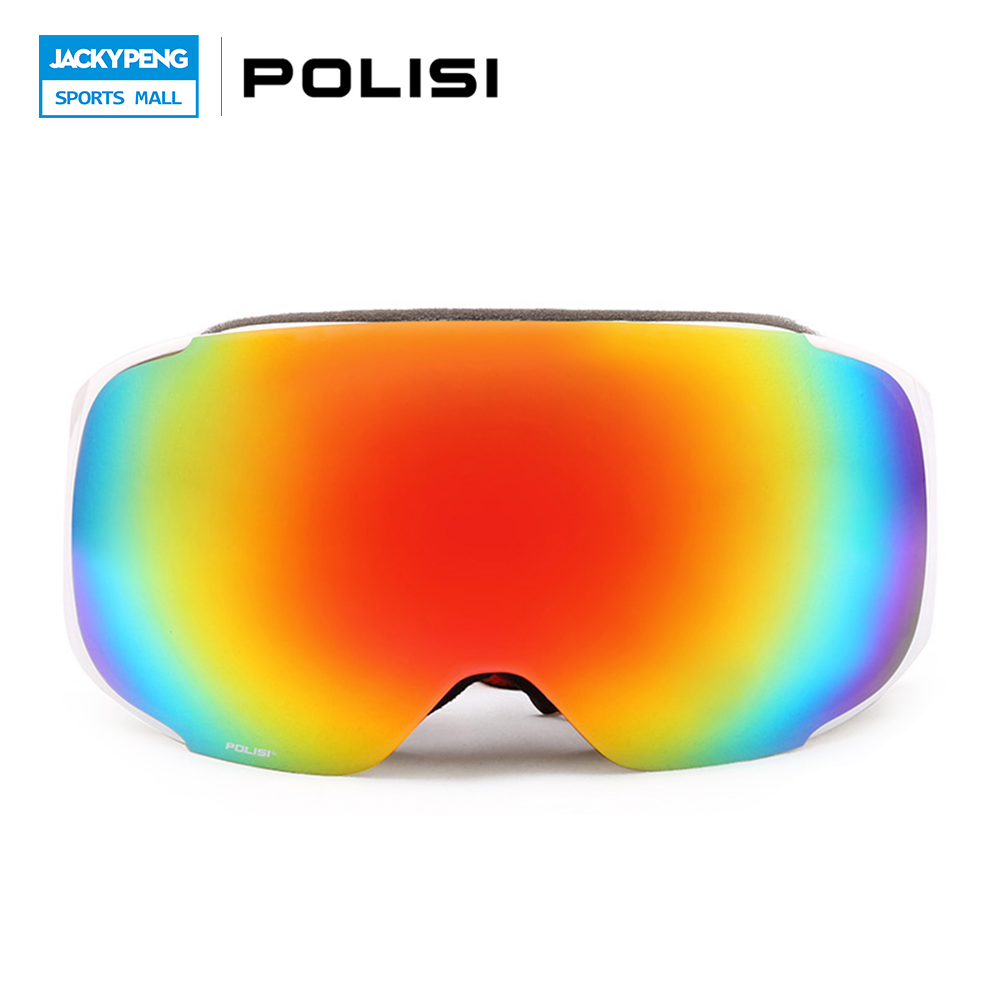 ФОТО POLISI Winter Skiing Snowboard Eyewear Replaceable 2 Lenses Ski Snow Goggles Men Women  Snowmobile  Gafas Motocross Glasses