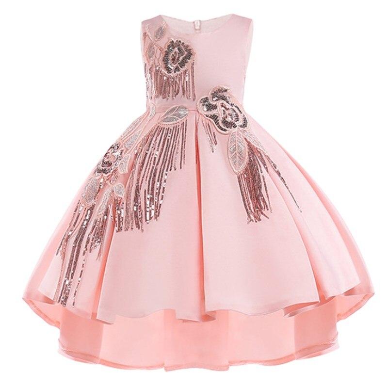 7dd0b0dc7 Algodón forro bebé niñas vestido para niñas vestidos de fiesta de boda  niños princesa verano vestido Niños Niñas Ropa edad 2- 10 T