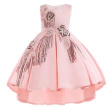 Bawełna podszewka Baby Girls Dress for Girls wesele sukienki dla dzieci księżniczka Letnia sukienka dzieci dziewczyny Odzież wiek 2-10 T tanie tanio Z KEAIYOUHUO Regularne O-Neck Kwiaty Pasuje do rozmiaru Weź swój normalny rozmiar Bez rękawów Casual sukienka dziewczęce