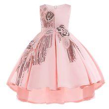 eb4ab3490 Forro de algodón bebé niñas vestido para la boda de las niñas niños vestidos  fiesta de princesa vestido de verano de las muchach.