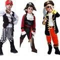 Дети мальчики пиратские костюмы для Мальчиков пираты карибского моря Косплей Костюмы для детей хэллоуин костюмы для детей