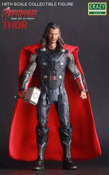Jouets fous film Marvel les Avengers 3 Thor PVC figurine d'action Thor avec marteau modèle de collection poupée jouet enfant enfants cadeau