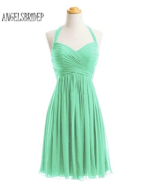 Vestidos de coctel verde menta