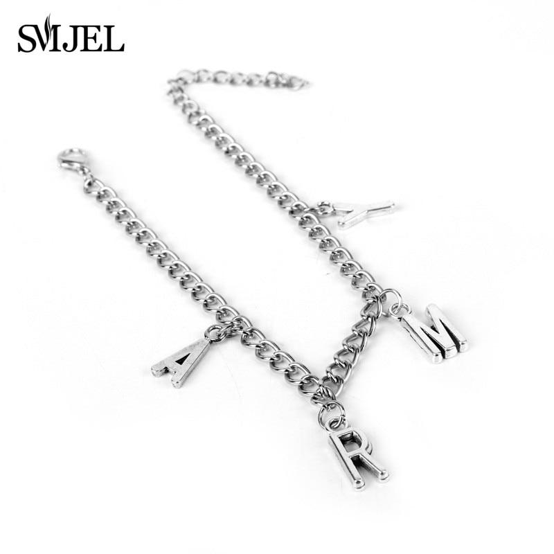 SMJEL Punk Jimin ARMY Letter Bracelets for Women Men Kpop Boys Jewelry Korean Style Army Birthday Gifts Friend