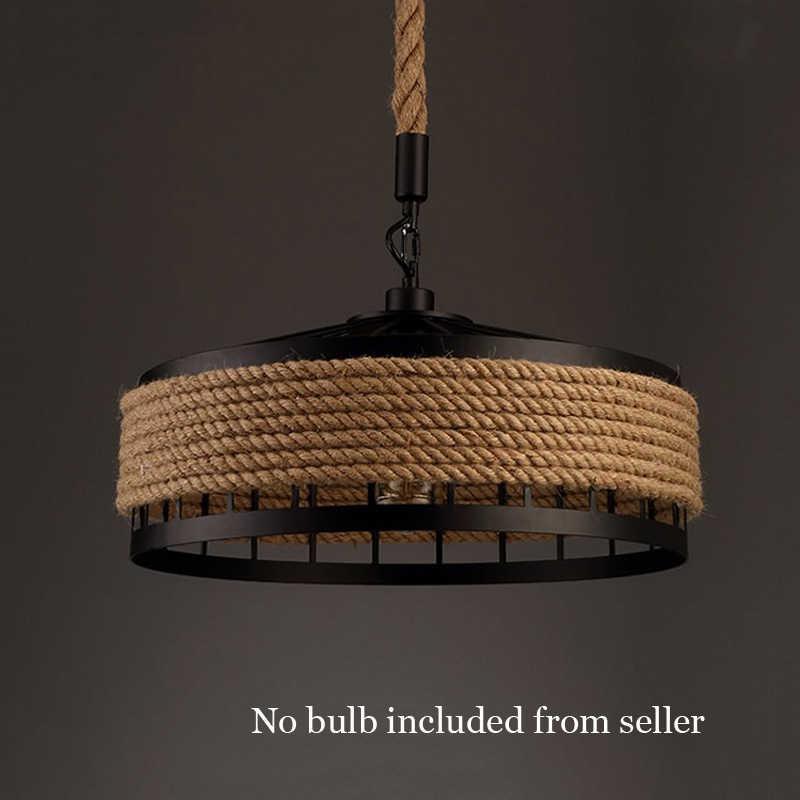 Железная веревка американская индустрия Люстра для зала креативная фара Ресторан Бар Кафе свет столовая подвесной светильник на гибкой подвеске