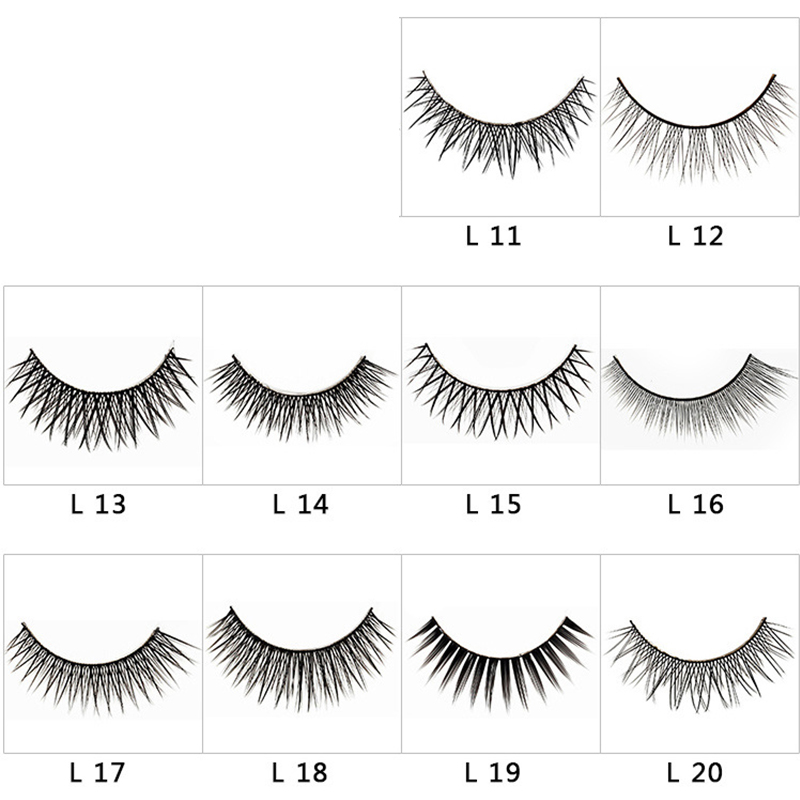 3 Pairs 3D False Eyelashes 10 Kinds Natural Long Thick Makeup 3d Handmade Lashes Soft Eyelash Extension Fake Eye Lashes