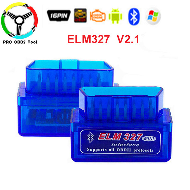 Stable Super Mini ELM327 Bluetooth odb2 Scanner Tool Smart Car Diagnostic interface ELM327 V2.1  Support Android/pc system