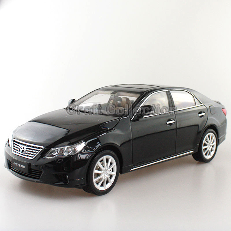 * Black 1:18 Toyota Reiz 2010 Mark-X Mark X Ruiz Diecast Model Car New Technology Vehicle Hot Selling Miniatures