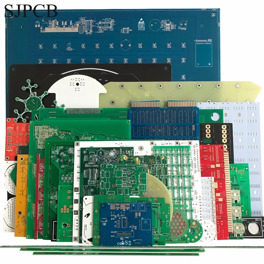 SJPCB Manufacturer 2 Layers PCB Sample Custom Prototype Printed Circuit Board Small Quantity Fast Run Service Need Send Files
