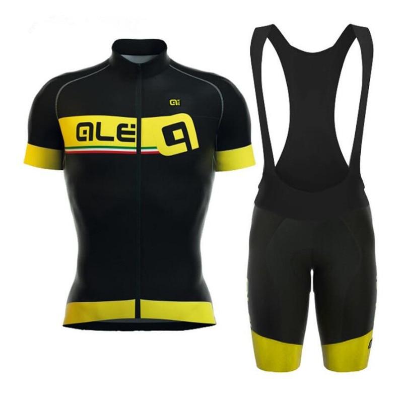 2018 summer Cool Design ale Cycling jersey men bib shorts sets /Mountain bike clothing/ Quick-Dry Cycling Clothing