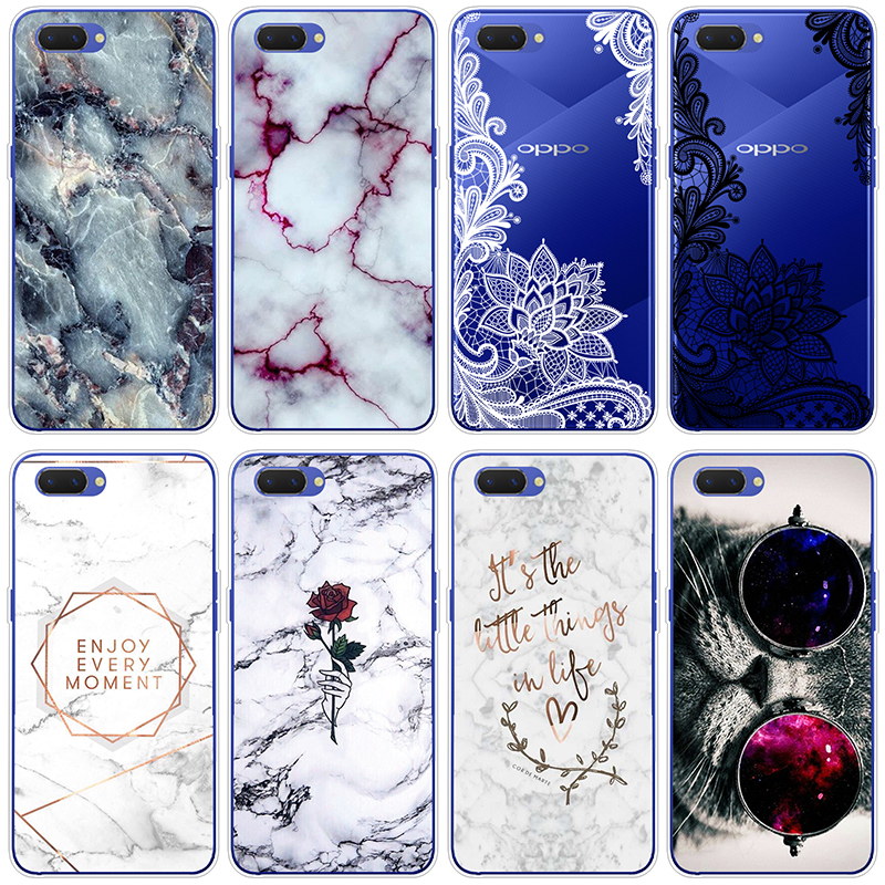 Marble Cats Silicone Case for Funda OPPO A3s Soft TPU Protective Back Clear For OPPO A5 Case Cover Coque Dream Shell Pattern