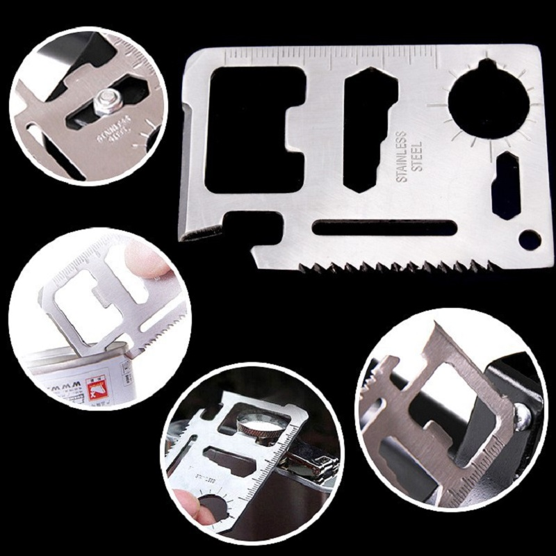 Multi Tools 11 in 1 Multifunctionele Outdoor Survival Camping Multifunctionele Outdoor Tool Creditcard Zak Pocket Camping Gereedschap