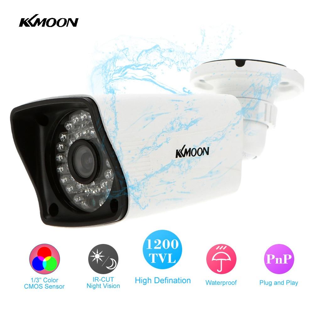 """bilder für KKmoon Wasserdichte HD 1200TVL Überwachungskamera Im Freien 36 IR Led Nachtsicht 1/3 """"CMOS Mini Kugel Cctv-kamera Home Security"""