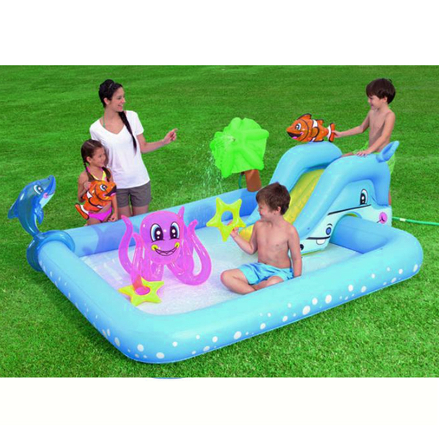 Baby play pool water inflatable marine ball water pool for Bestway piscine service com