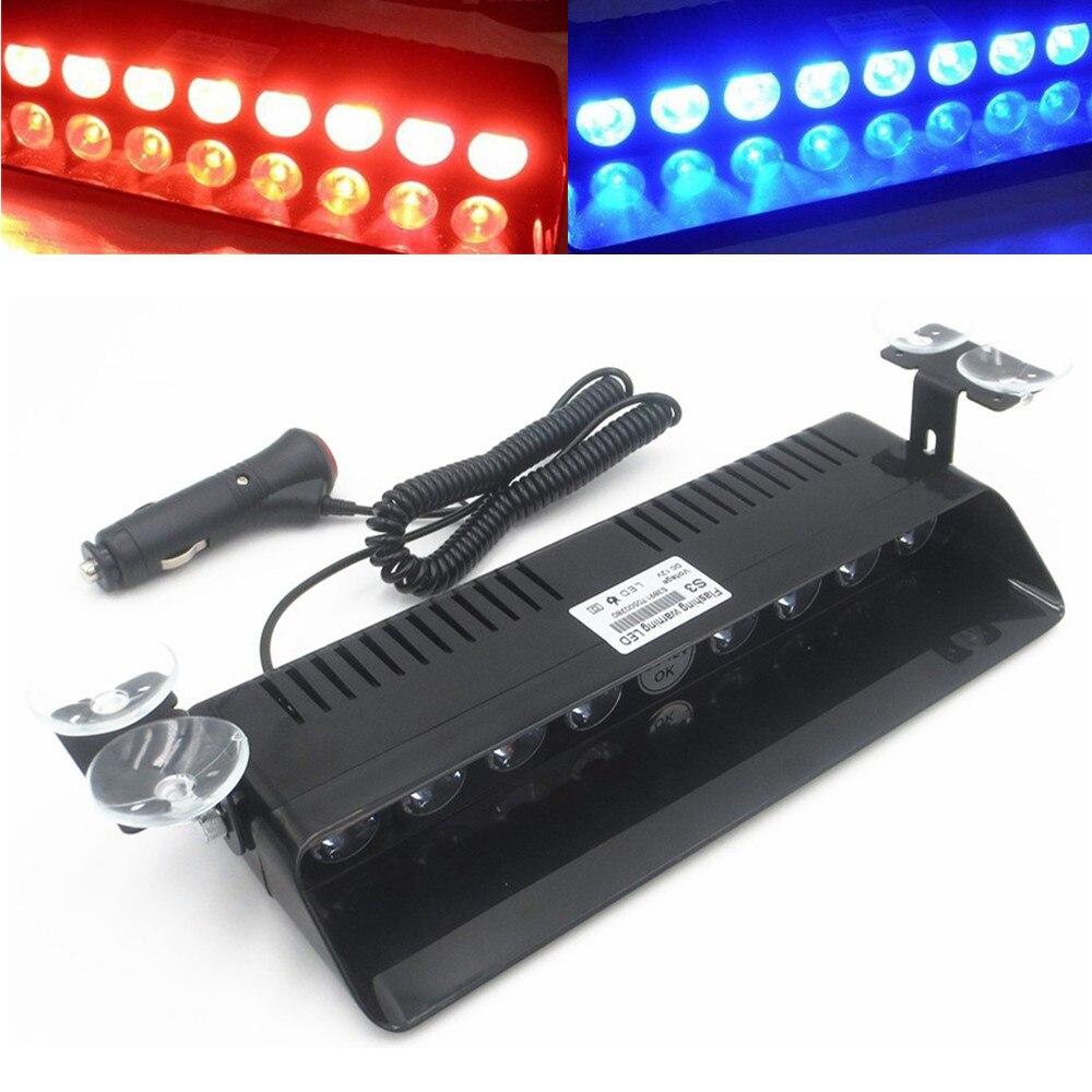 CYAN SOL BAY 8 LED D'avertissement D'urgence Trafic Véhicule Strobe Light Bar Pare-Brise Clignotant Lampe Tableau de Bord Rouge Bleu
