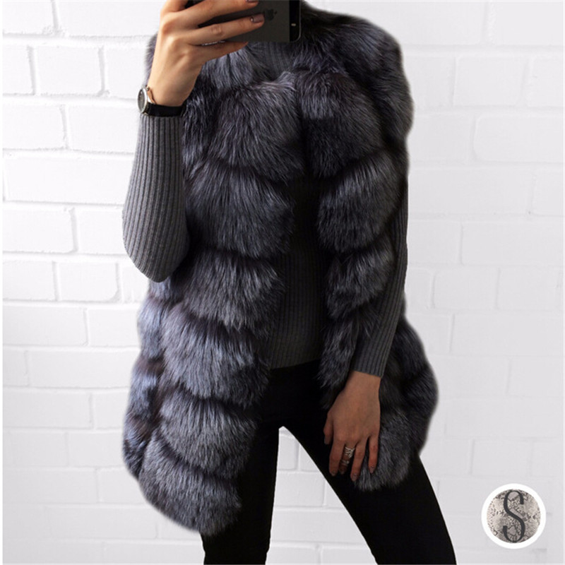 BFFUR Real Fur Vest Luxury Women Winter Fashion Style Natural Fur Vest Coat Female Fox Fur Vest Top Quality Real Fur Coat