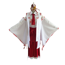 купить Machiavellism Tsukuyo Inaba Kimono Dress Uniform Tops Samurai Pants Outfit Anime Cosplay Costumes with Socks по цене 3565.22 рублей