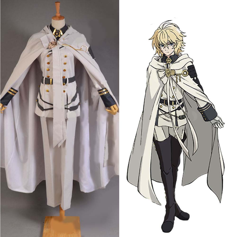 Owari no Seraph of the End Mikaela Hyakuya Cosplay Costume Outfit Attire Cape seraph of the end mikaela hyakuya cosplay costume full set costume hot sale h