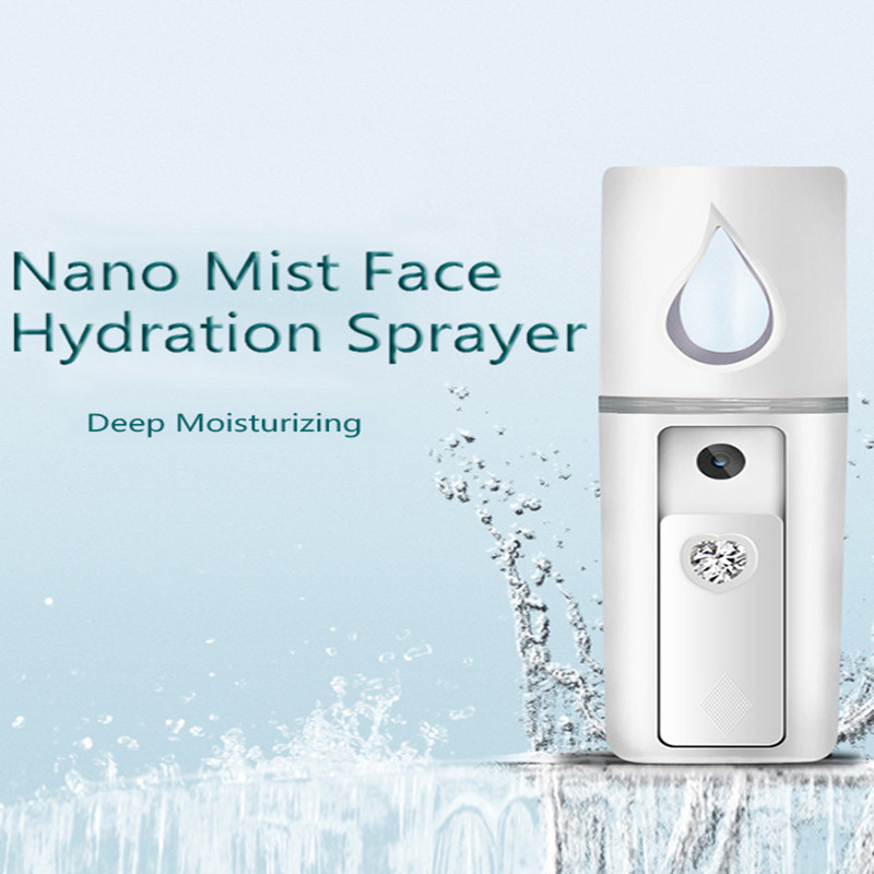 Portable Handheld Facial Steamer Nano Facial Spray Nano Mister Cosmetology Nebulizer Moisturizing Steamer Cosmetic Skin Care