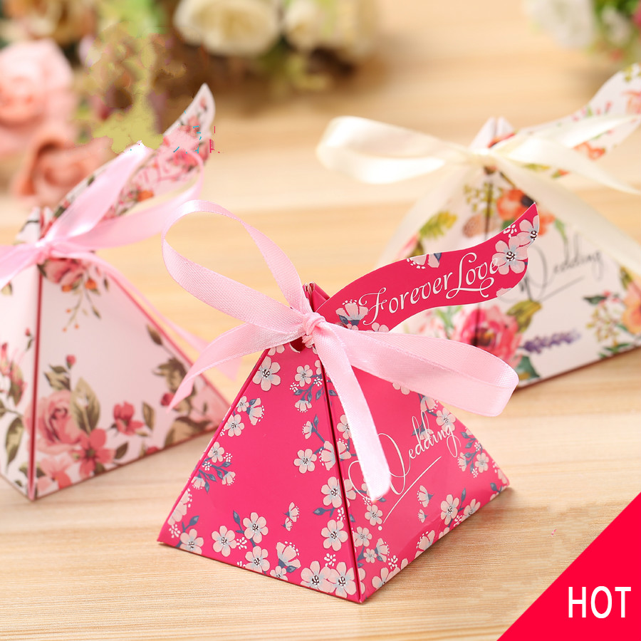 New 100pcs Wedding Favors And Gifts candy Box Party Event Supplies ...