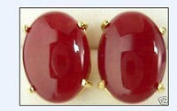 Wholesale FREE SHIPPING AS Details About Beautiful Red Jade Earrings A0422