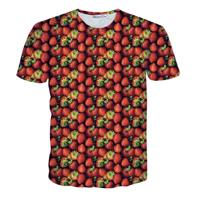 2016 Summer Designer Funny 3D Rainbow Printed Female T Shirt Women/Men Unisex O-neck Short Sleeve Emoji Harajuku Tee Shirt Tops