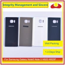 50 pçs/lote para samsung galaxy note5 nota 5 n920 n920f habitação porta da bateria traseira de vidro caso capa chassis escudo