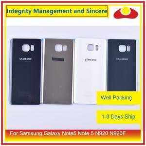 Image 1 - Original para samsung galaxy note5 nota 5 n920 n920f habitação porta da bateria traseira de vidro caso capa chassi escudo
