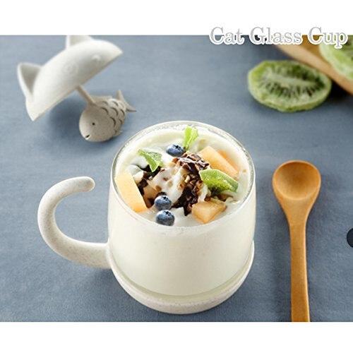 Cat Glass Tea Cup