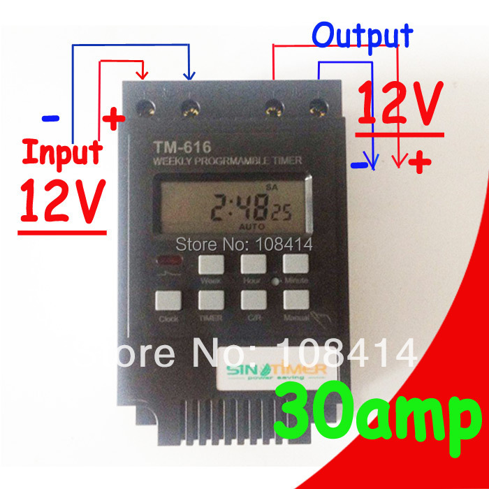 Sinotimer Amp Control Load Dc V Timer Switch Days On Off Programmable Hrs Digital Time on 24 Volt Dc Relay