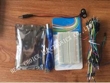 Starter Kit for arduino Uno R3 – Bundle of 5 Items: Uno R3, Breadboard, Jumper Wires, USB Cable and 9V Battery Connector