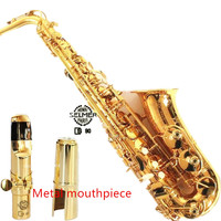 2017 French Selmer 802 E Flat Alto Saxophone Brand Professional Electrophoresis Gold Saxe Musical Instrument Super
