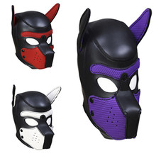 Party Mask Bondage Dog Slave Rubber Hood Headgear Fetish Sex Products Adult Games Erotic Couples Flirting Toys For Women Men Gay